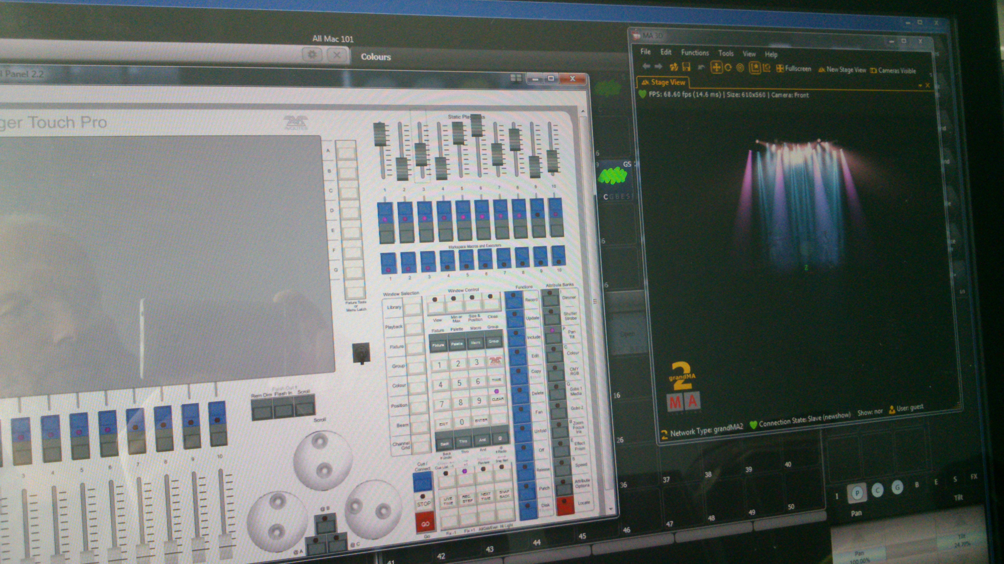 Avolites Titan Emulator software met Grandma 3D